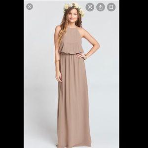 Show me your Mumu heather bridesmaid dress - dune